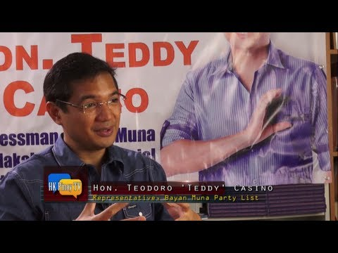 An exclusive interview with Rep. Teddy Casino in Hong Kong