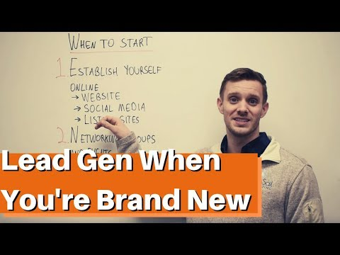 How To Generate Leads When You're Brand New – Marketing Plan For Contractors