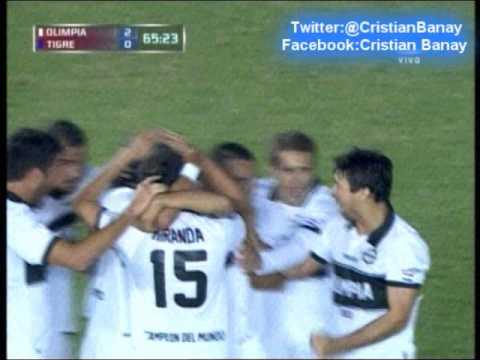 Olimpia de Paraguay 2 Tigre 0 (Audio Radio Cardinal )   Copa Libertadores 2013 Los goles (16/5/2013)