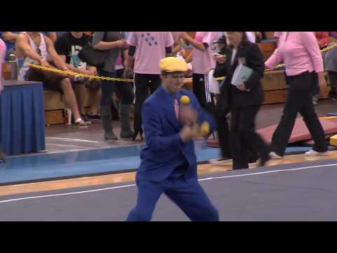 """That Juggler Guy"" UCLA Gymnastics Post-Meet Performance"