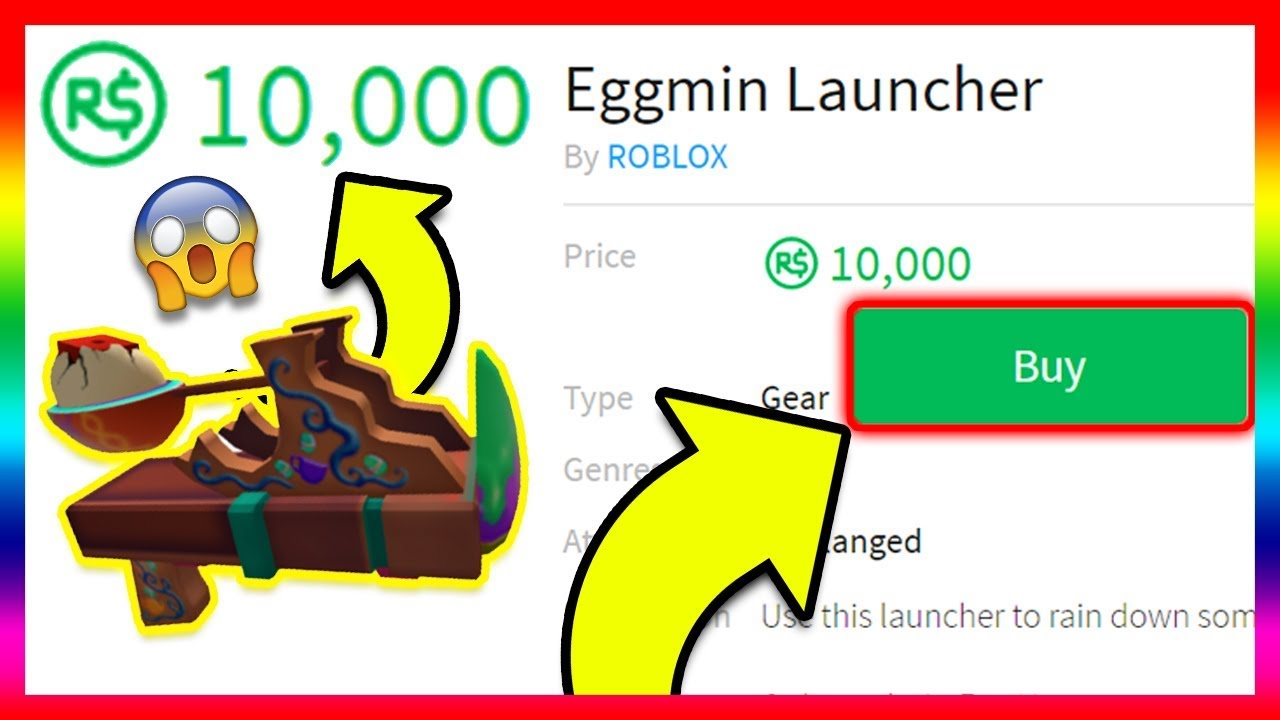 Spending 100 On The Eggmin Launcher 10 000 Robux Roblox