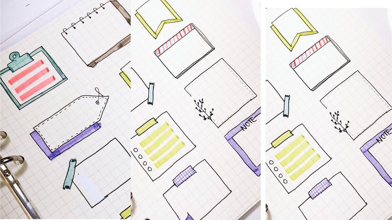 Trang trí sổ tay đơn giản với bút dạ quang và gel đen/ khung ghi chú/ #Shorts | Tổng quát những tài liệu liên quan đến vẽ trang trí hình chữ nhật đơn giản mới cập nhật
