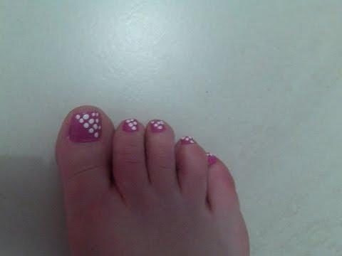 Nuevo diseño de uñas del pie super facil - YouTube