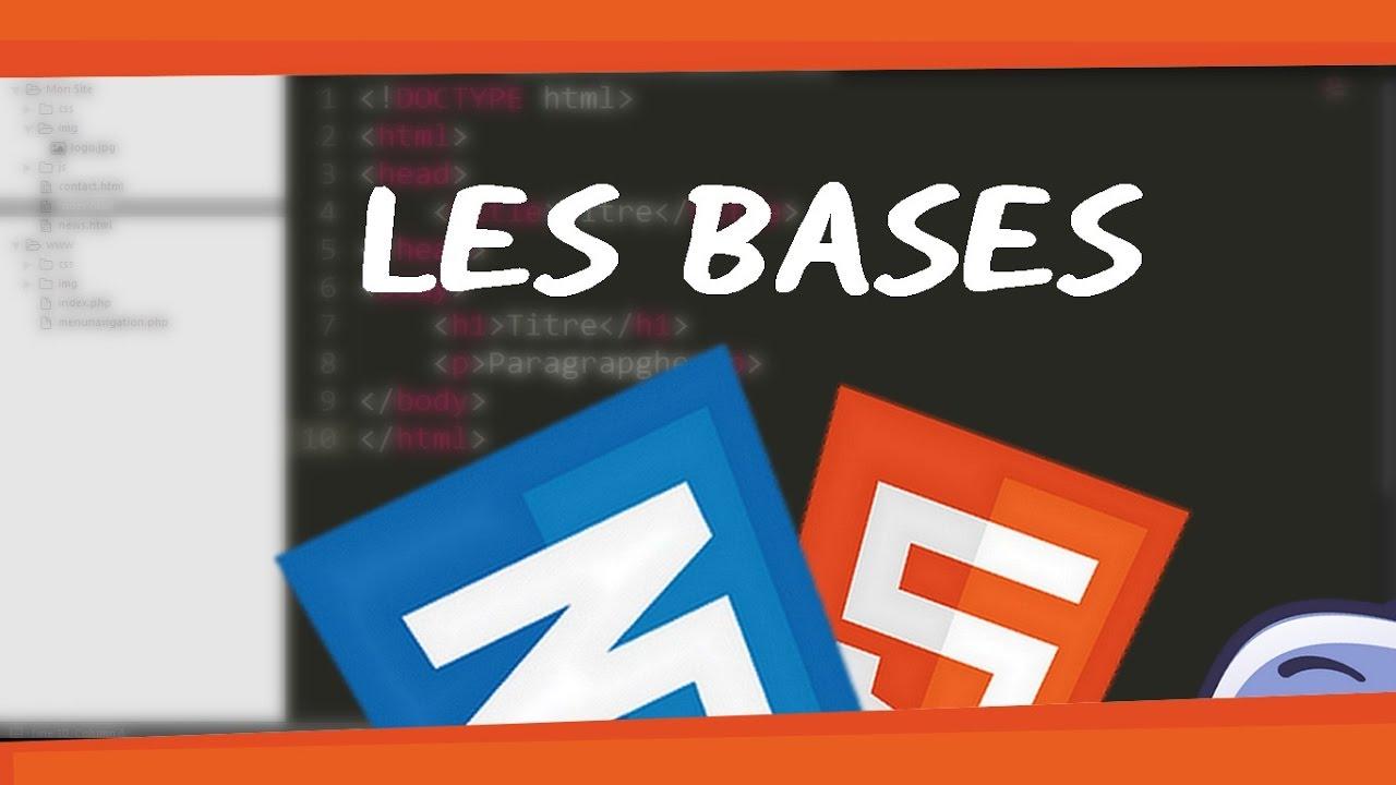 creer un site   html  css  1 - les bases