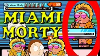 Pocket Mortys - Catching Miami Morty! Getting Morty To Level 70 + More!