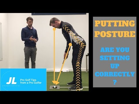 GOLF LESSONS – Perfect putting set up for golf!
