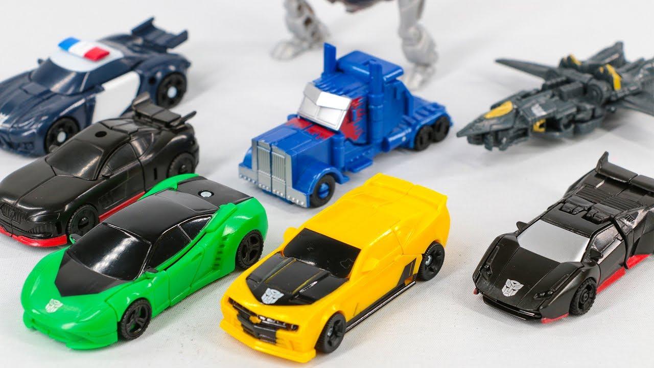 Transformers 5 Tlk Legion Hot Rod Optimus Prime Bumblee Crosshair Megatron Drift Car Robot Toys