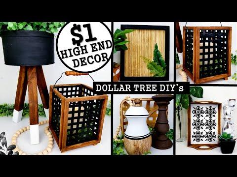 $1 DIY HOME DECOR IDEAS   DOLLAR TREE DIY's 2020   Anthropologie Inspired