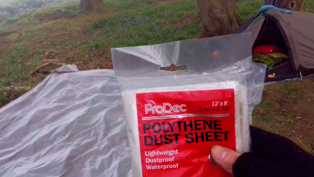 Polycryo Tent Footprint Ground Cloth Sheet 7 ft by 6 ft polycro
