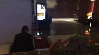 Lobby of hotel last night in Tokyo