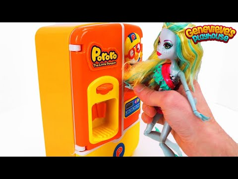 Best Toy Learning Videos for Kids Learn Food Names Monster High Lagoona Blue & Pinkie Pie Baby Dolls