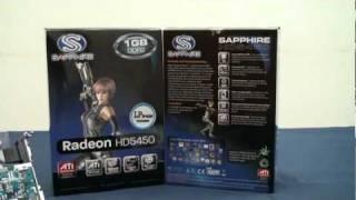 藍寶科技 SAPPHIRE ATI Radeon HD5450 1GB DDR2 Graphics Card Video Review