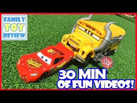 Disney Cars 3 Toys - 30 Minutes of Lightning McQueen Miss Fritter Toys of Pixar Disney Cars 3 Movie