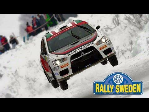 WRC Rally Sweden 2015 - Max Rendina & Mario Pizzuti Mitsubishi EVOX