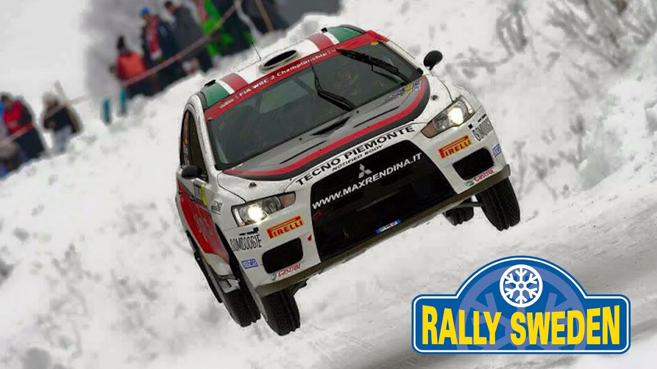 WRC Rally Sweden 2015 - Max Rendina & Mario Pizzuti Mitsubishi EVOX - YouTube