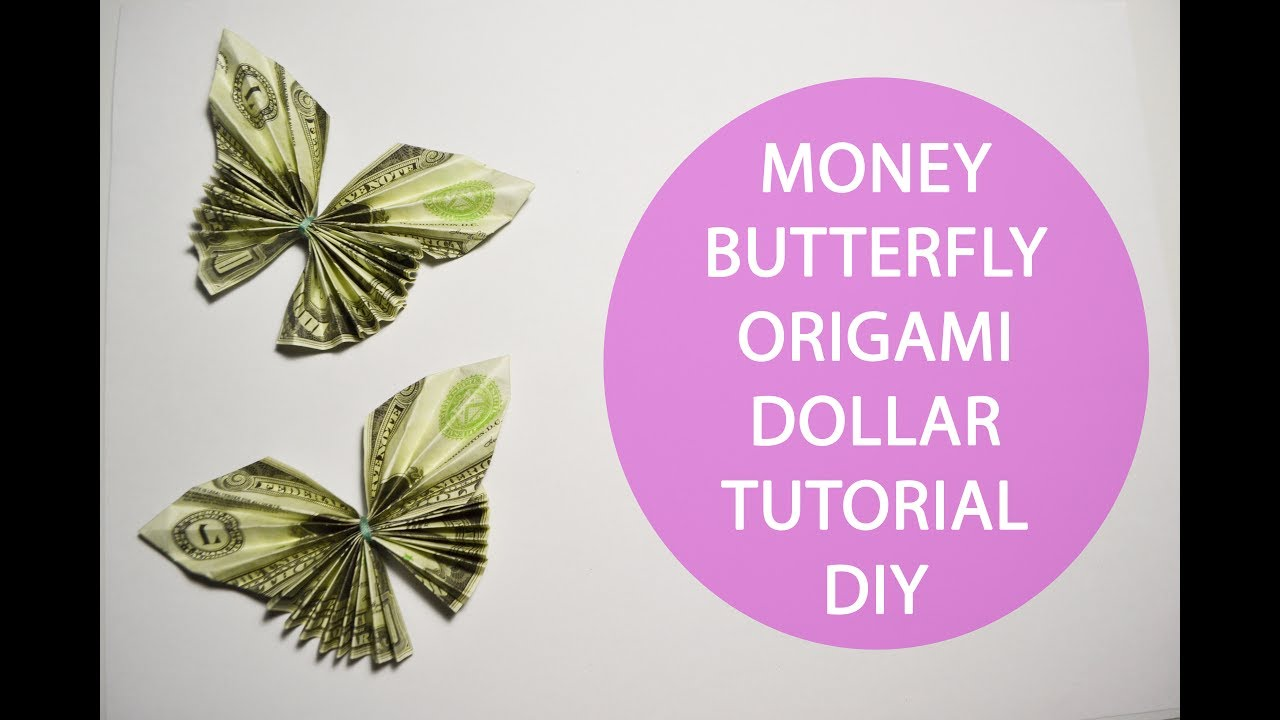 Money Origami BUTTERFLY Insect Folded with Real One Dollar Bill ... | 720x1280