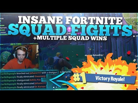 ONE OF THE BEST SQUADS EVER! - Fortnite Battle Royale Squads Highlights
