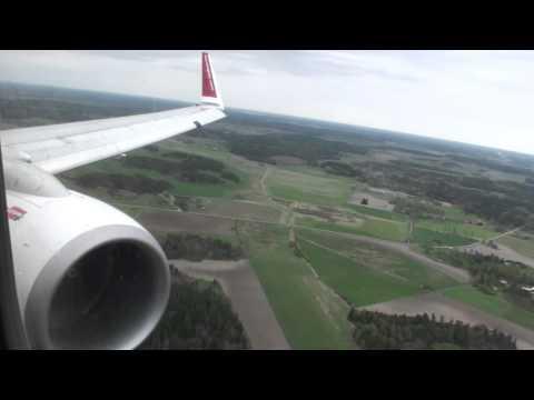 Spectacular Sweden!!!  Fantastic HD 737 Landing in Stockholm Arlanda!!!