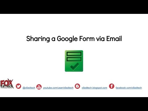 Share A Google Form Via Email