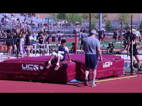Amarion Antonio Las Vegas Day School High Jump Attempt
