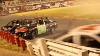 Bowman gray chain race 7/23/16 hard crash red flag then called