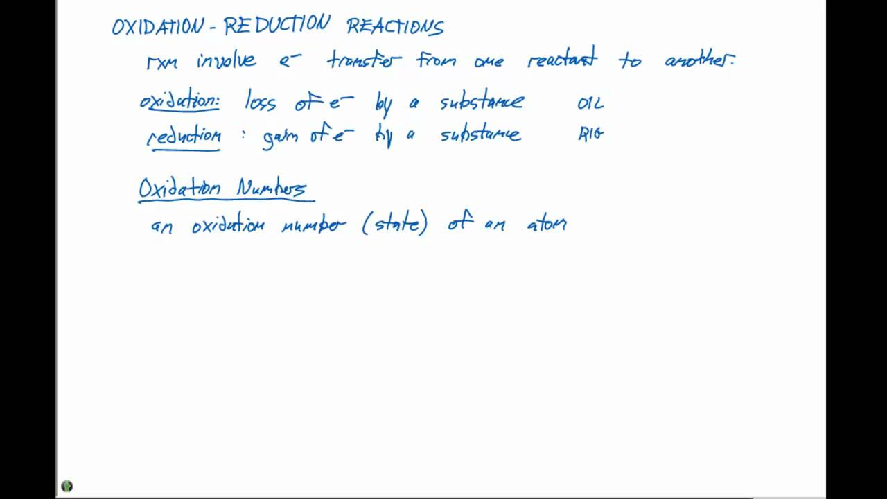 44 Oxidation Reduction Reactions and Assigning Oxidation Numbers – Oxidation and Reduction Worksheet
