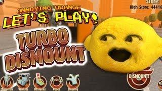 Annoying Orange Let's Play - Turbo Dismount With Grandpa Lemon