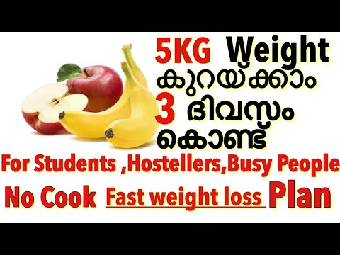 No Cook Diet Plan for Fast weight Loss|Banana Apple Diet Plan For Fast Weight Loss Malayalam