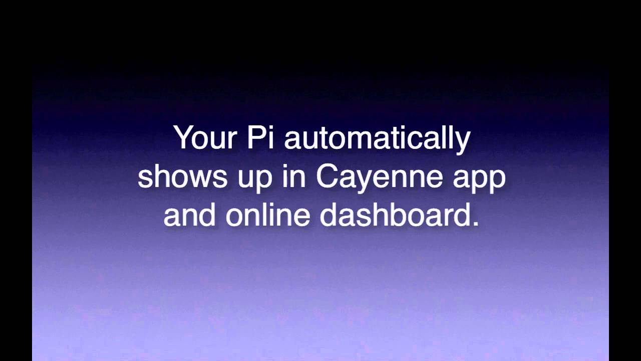 Setting up your Raspberry Pi with Cayenne iOS Phone App
