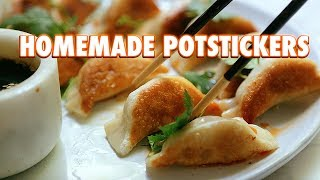 Potstickers Made From Scratch (Pan Fried Dumplings)