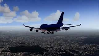 United Airlines Boeing 747-400 approaching Las Vegas - [Runsame Classics] FSX