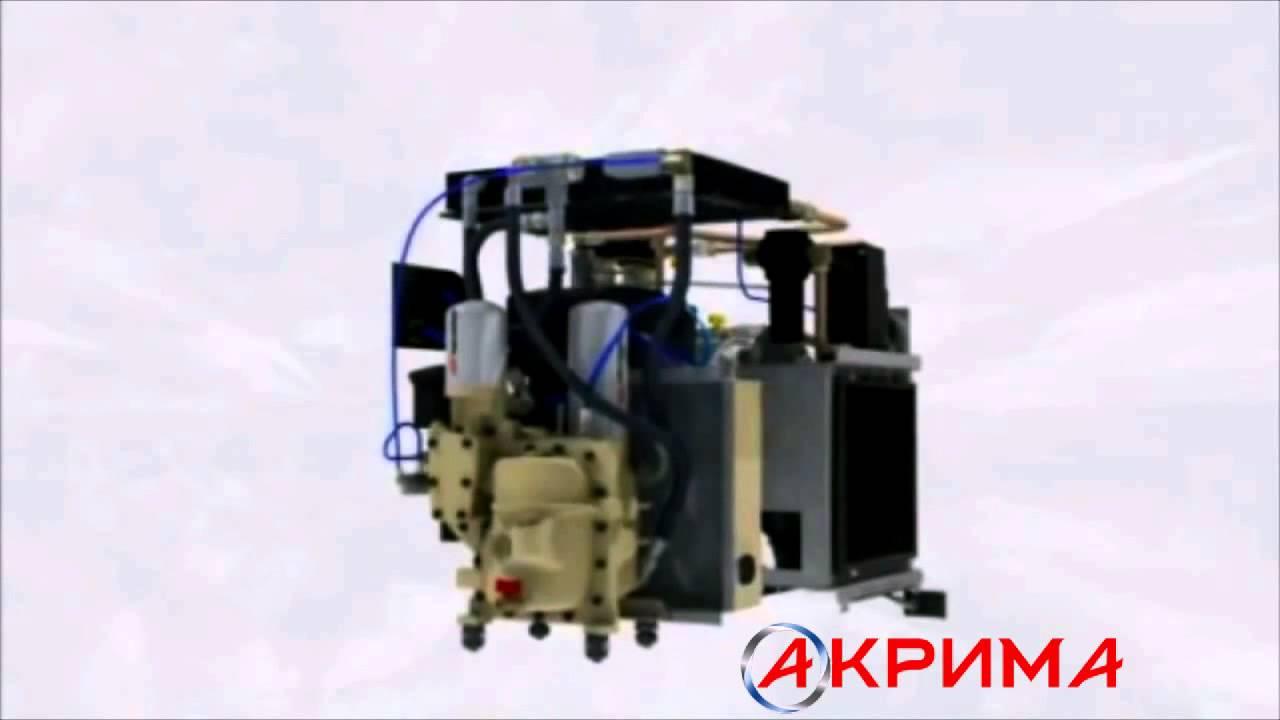 Винтовой блок компрессора NK-60 Rotorcomp Renner WAN Airpol - YouTube