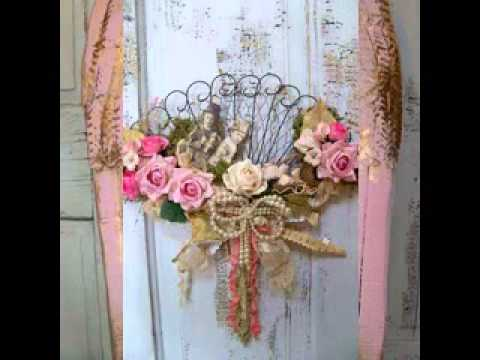 Shabby Chic Wall Decorating Ideas Youtube
