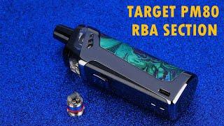 Vaporesso Target PM80 P๐d Mod RBA Section Tutorial