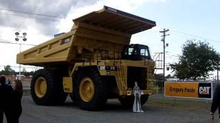 CAT 777 mining truck at NASCAR race - 10.14.10