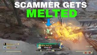 Fallout 76: Weapon Spotlights: Bloodied Explosive Gatling Gun