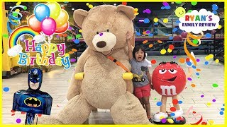 Ryan's 6th Birthday Surprise Balloons Pop Challenge + Indoor Playground Play Area for Kids Playing