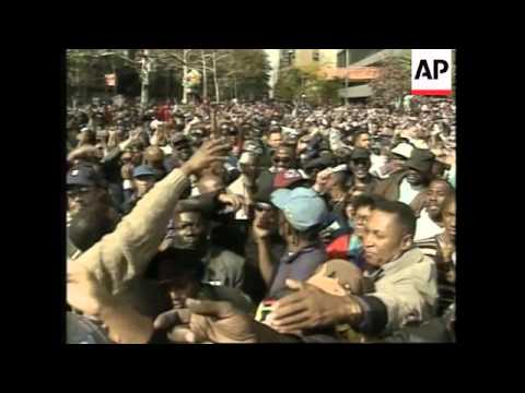 USA: NATION OF ISLAM LEADER HEADS DEMONSTRATION AGAINST RACISM