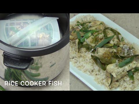 Ginger Soy Fish And Rice Cooked In A Rice Cooker Cheekyricho Easy Video Recipe