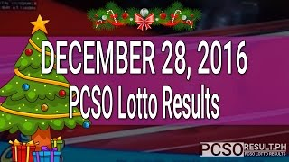 PCSO Lotto Results December 28, 2016 (6/55, 6/45, 4D, Swertres & EZ2)