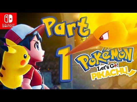 Lets GO Pikachu! Gameplay Part 1 - Nintendo Switch Pokemon!