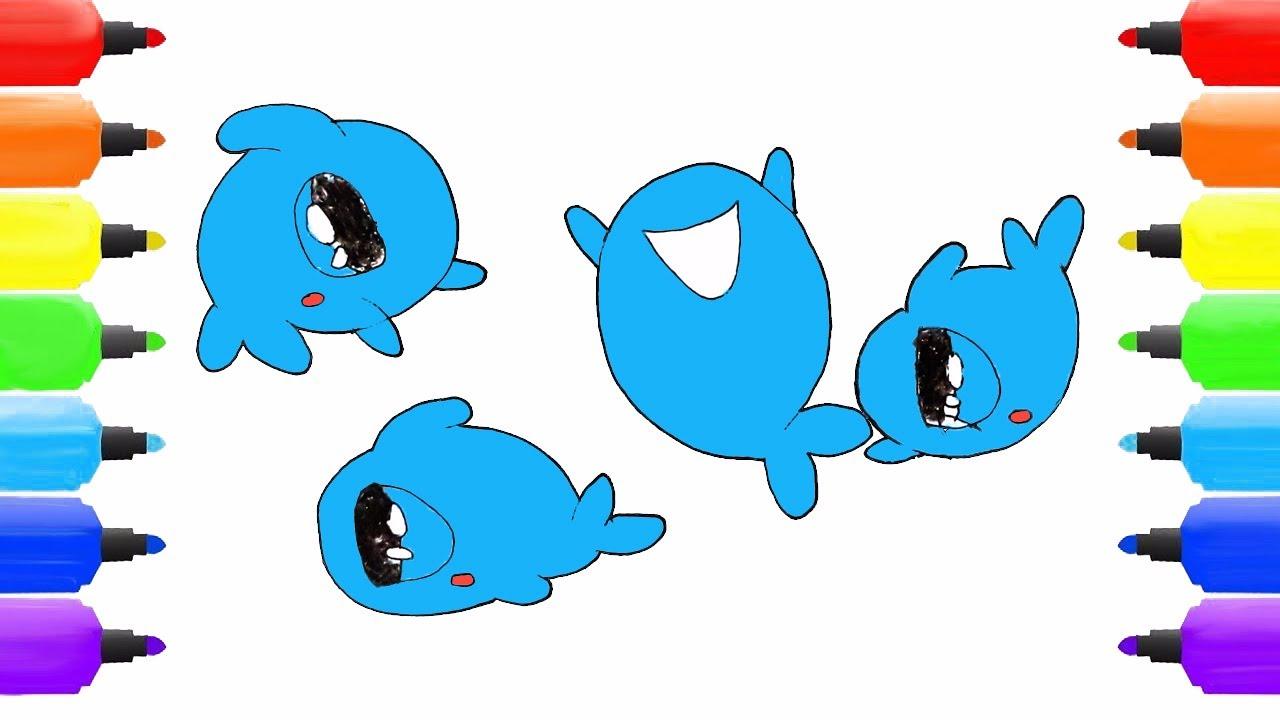 how to draw kawaii cartoon whale easy drawing kawaii