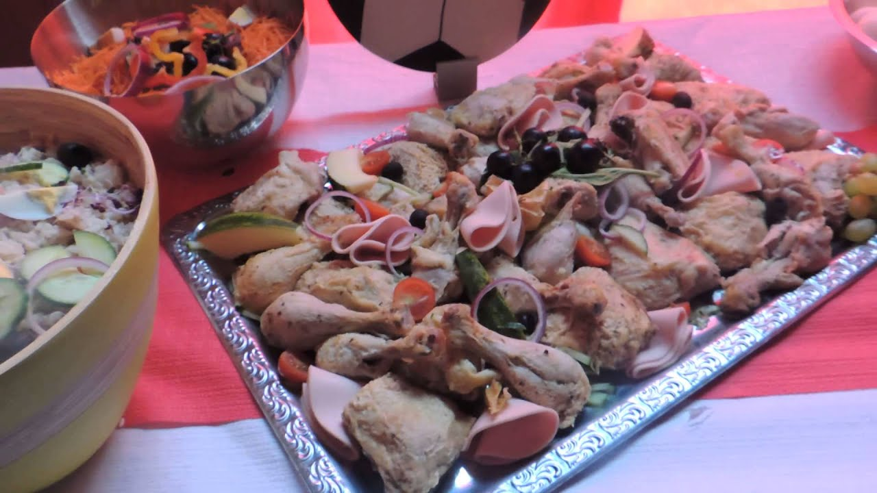 Buffet froid que fait ma fille youtube - Presentation buffet froid deco ...