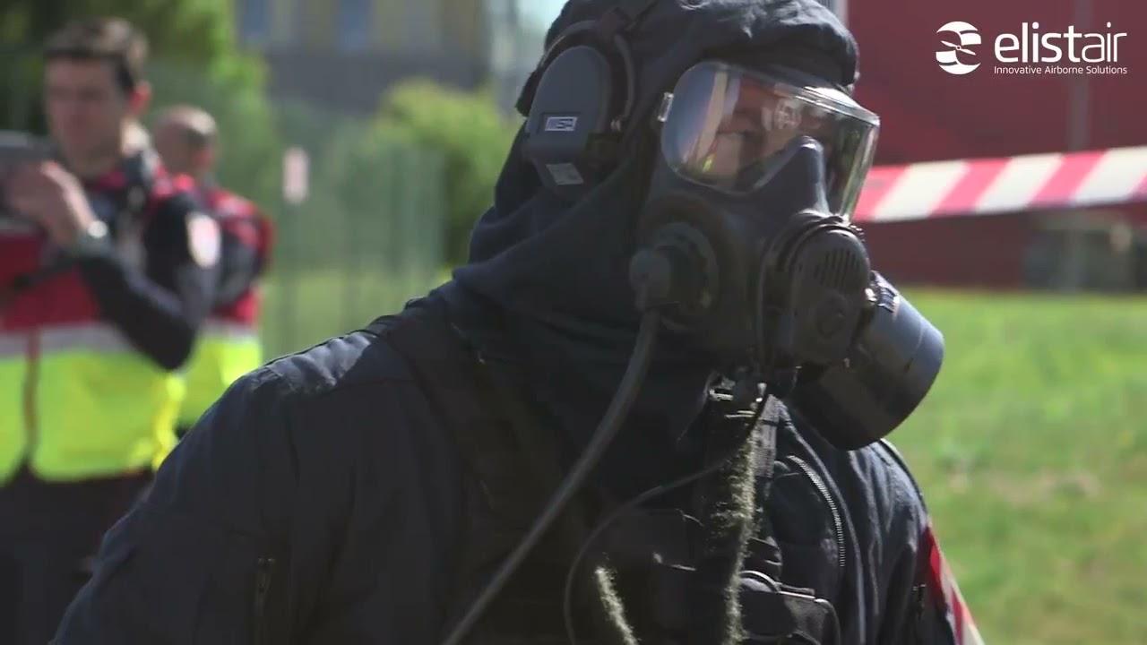 Координация антитеррористической операции с привязного БПЛА в городе.