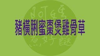 食平3D EP37-1 豬橫脷蜜棗煲雞骨草 (純文字一頁筆記)