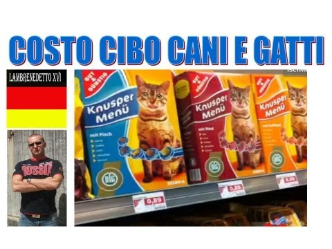 COSTO CIBO PER ANIMALI IN GERMANIA !!!! ( Scandaloso )