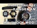 Removing Straps & Bezel from GW-9400 Rangeman & fit G-Shock Strap Adaptors - Perth WAtch Suppl #14