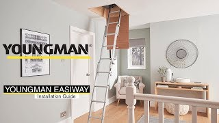 How to install the Youngman Easiway 3 Section Aluminium Loft Ladder