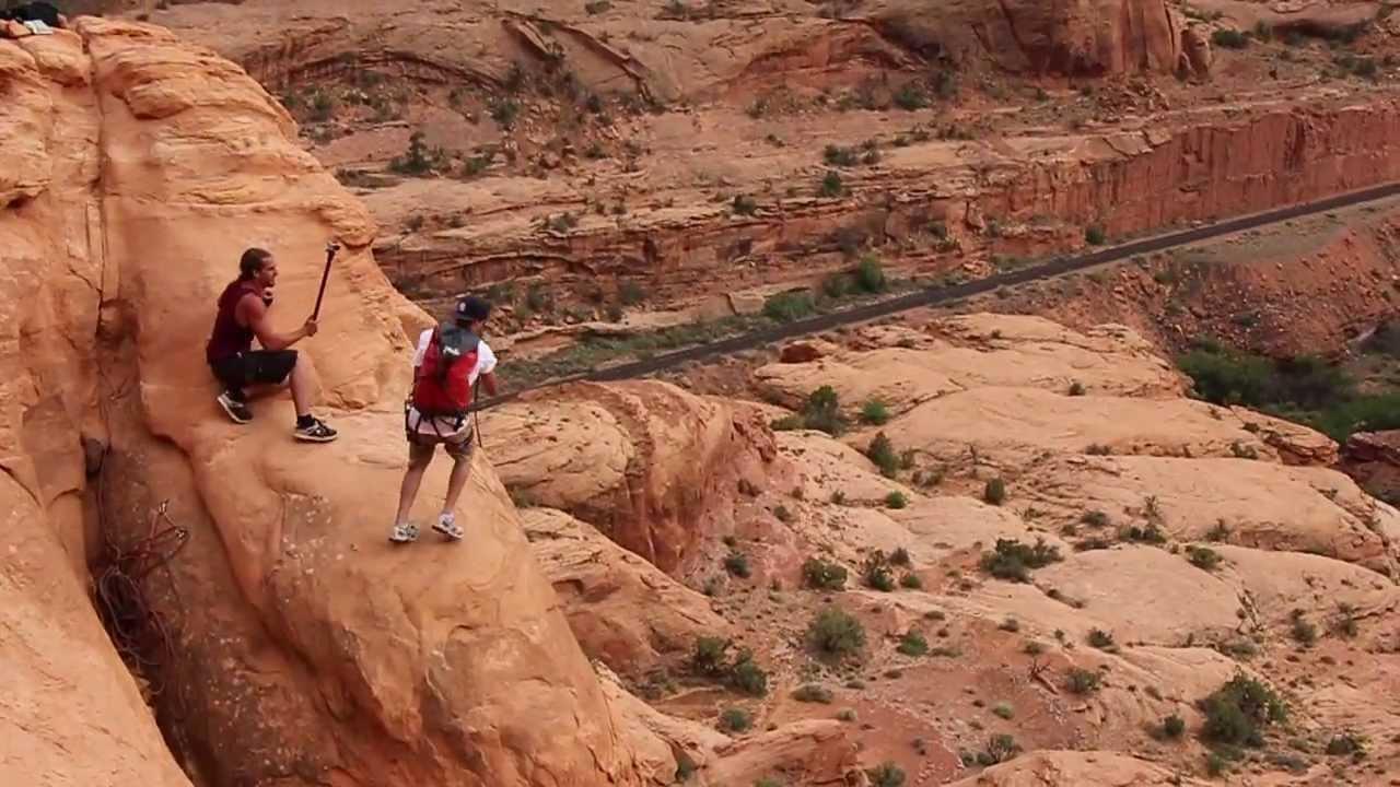 Free Fall Rope Swing Double Flips Off Corona Arch