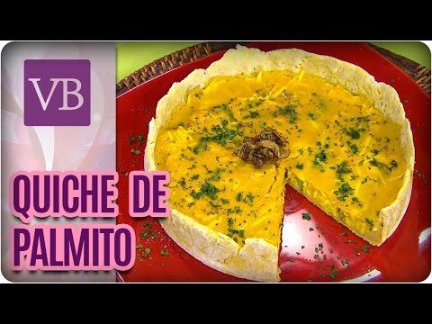 Quiche de Palmito e Açafrão - Você Bonita (21/09/16)